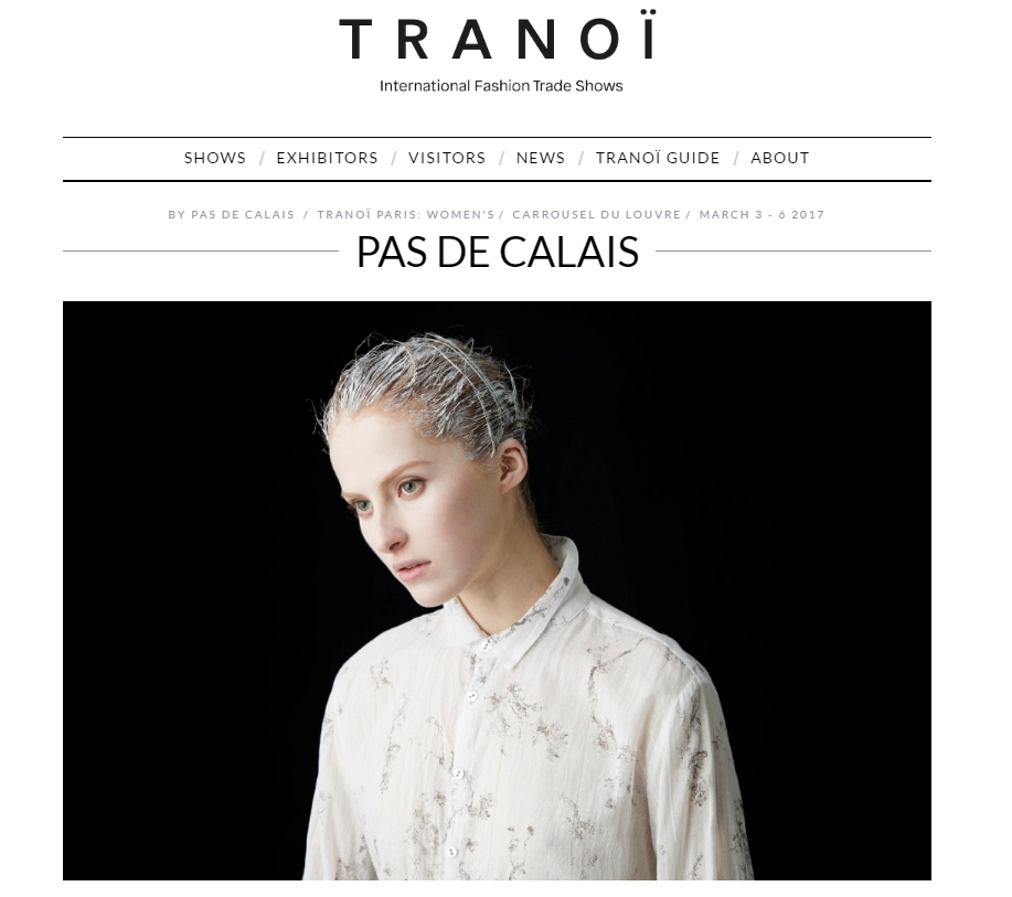 International Fashion Designers Tradeshows TRANOÏ