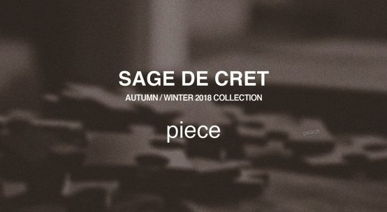 SAGE DE CRET AUTUMN / WINTER 2018 COLLECTION SCHEDULE