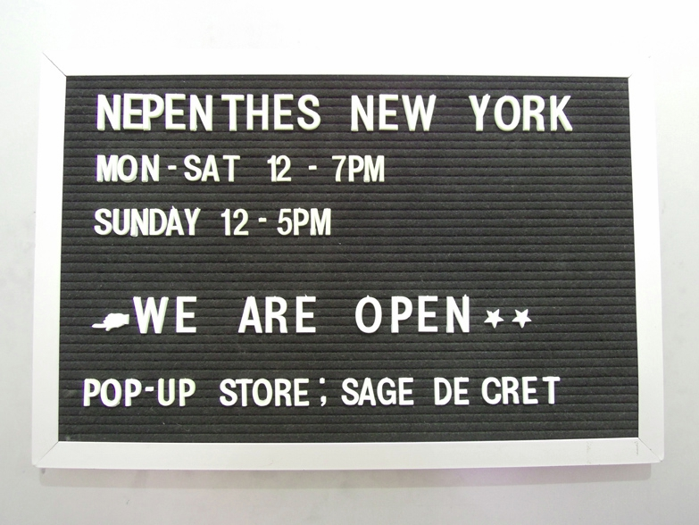 sage de cret pop up at nepenthes